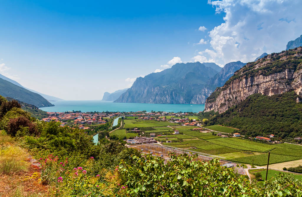 terroir of Lake Garda, where there are the vineyards of Turbiana for the production of Lugana wine